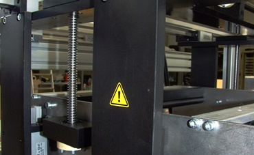 Folding and gluing machines in use