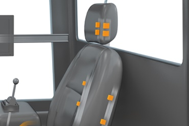 drylin linear guides for ergonomically adjustable driver's seat