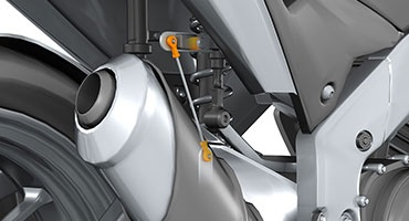 igubal double joint in the suspension strut with height sensor